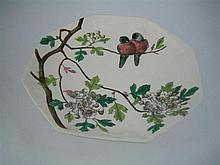 A MINTON CHINA COMPORT, 'Essex Birds'. Diameter 23cm.