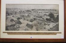 ''THE SITE OF THE NEW RAILWAY STATION, THE AREA...'' FRAMED PHOTOGRAPH. Circa 1900. 52 x 26.5cm.