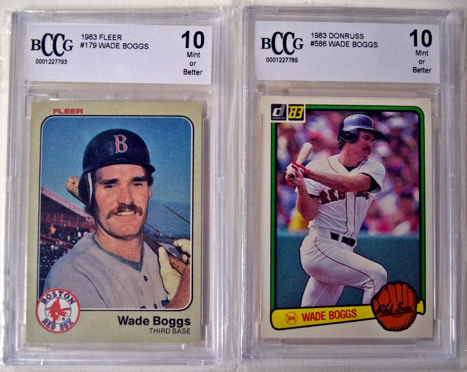 2 1983 Wade Boggs Rookie Cards Graded In Mint 10 State W