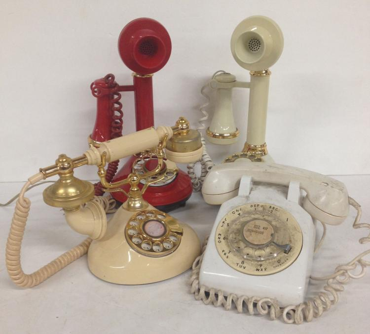 Four old Telephones