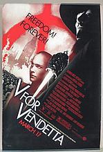 V for Vendetta Movie Poster -  Weaving, Portman