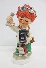 Goebel Charlot Redhead figurine, Camera Shy, marked Goebel W.Germany Byj79, 1975