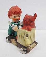 Goebel Charlot Redhead figurine, Gangway, marked Goebel W.Germany Byj28, 1958