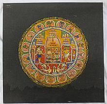 Round Puri Patta medallion, Jagannath of Puri