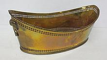 large Pierced brass boat shaped bowl