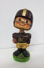 Vintage Boston College Eagles bobble head doll, football player