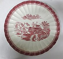 Large Charger Copeland Spode England - Mandarin pattern - scalloped edge