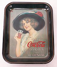 1912 Hamilton King Girl Coke tray, 1972