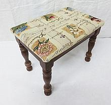 small decorative foot stool