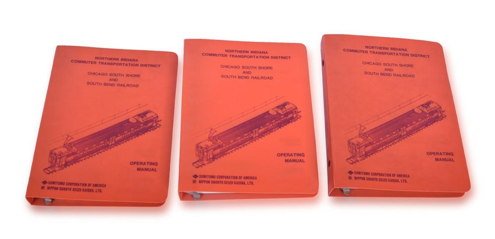 Three Chicago, South Shore, & South Bend Railroad / Nippon Sharyo Electric Car Operating Manuals