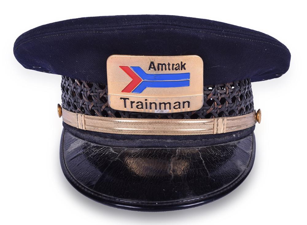 Amtrak Trainman Hat w/ Santa Fe Buttons