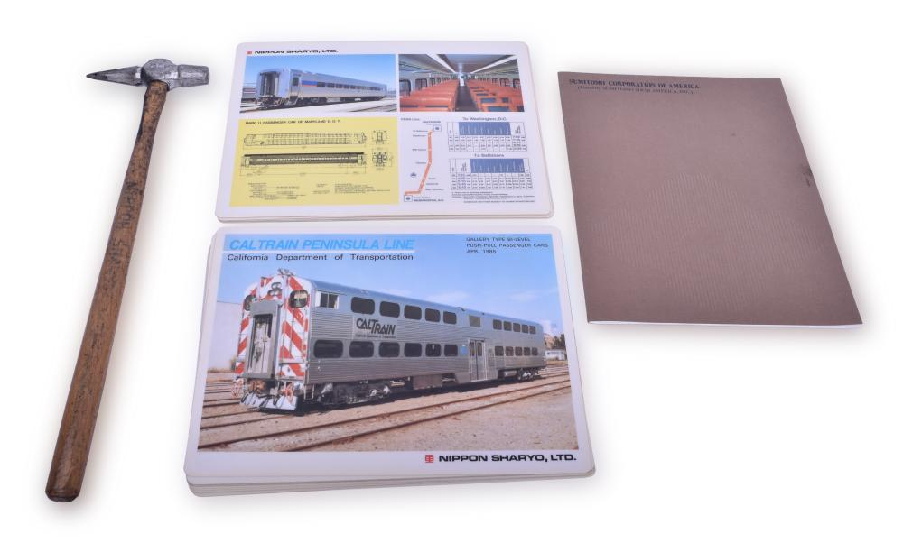 Nippon Sharyo / Sumitomo Corporation Promotional Materials and Wheel Hammer - MARC, Cal- Train Bi-Levels
