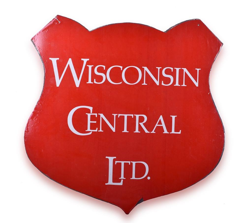 Wisconsin Central Railroad Steel Shield / Sign