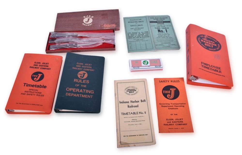 Elgin, Joliet & Eastern and Indiana Harbor Belt Rule Books, Timetables, and Other Promotional Materials