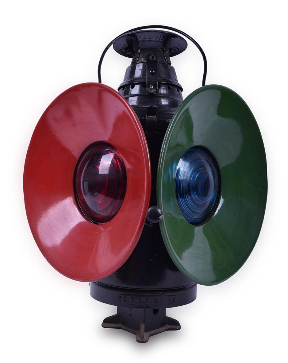 Restored Cleveland, Cincinnati, Chicago and St. Louis / Big Four Railroad Dressel Switch Lamp w/ Porcelain Day Targets