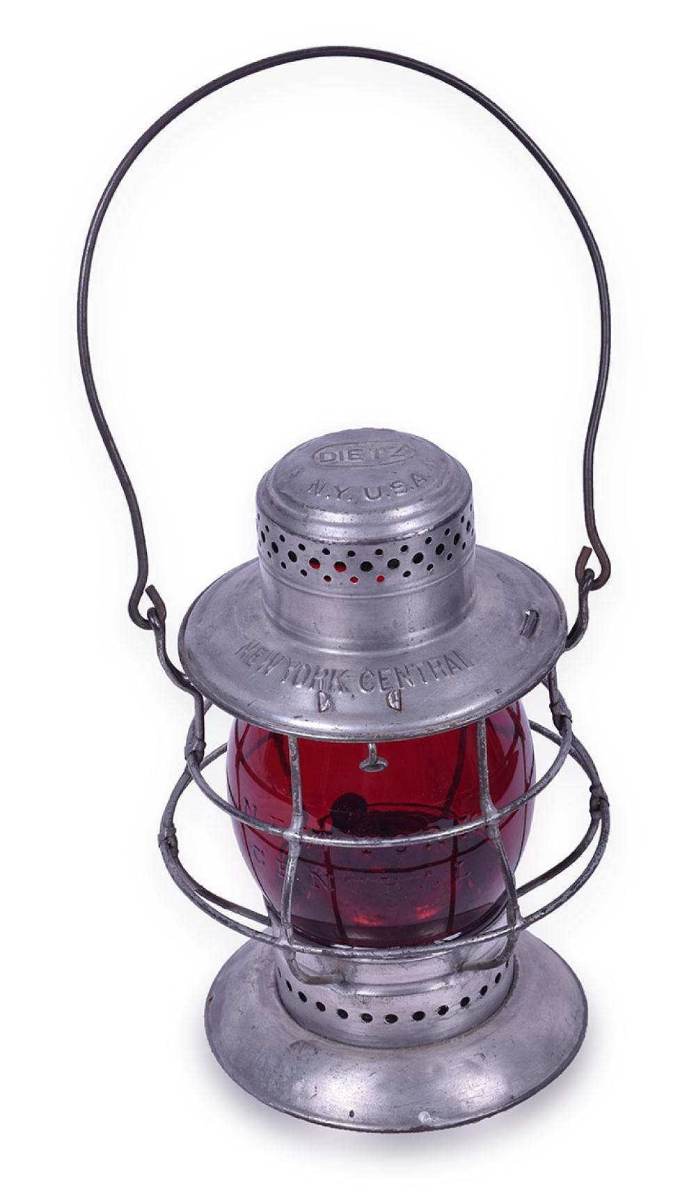 Dietz New York Central Railroad Double Guard No. 6 w/ Red Cast Globe