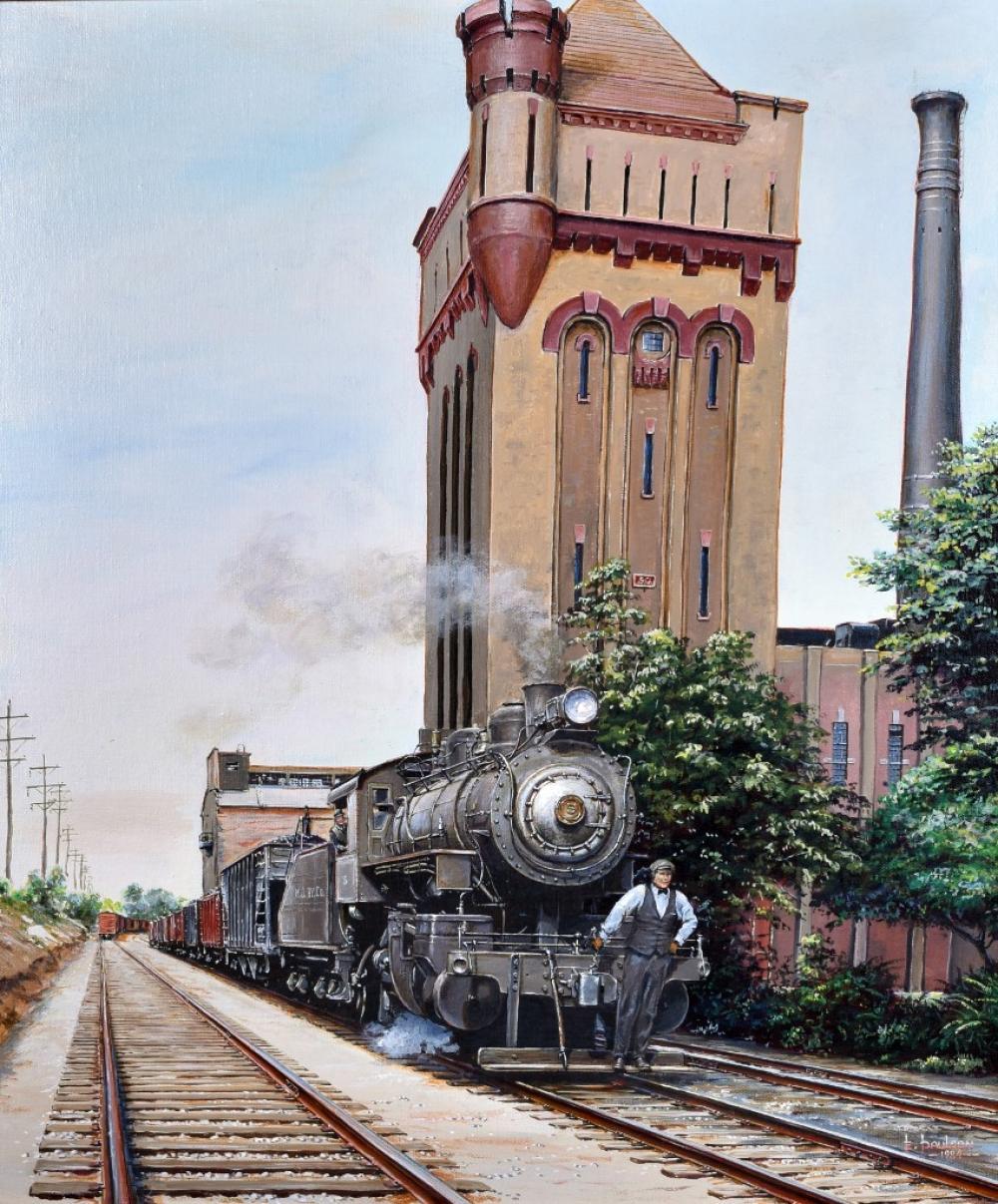 """Edward O. Paulson, """"Hawthorne 5 & 50"""", Acrylic and oil on canvas, 24""""x20"""""""