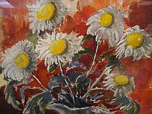 Evelyne Oughtred Buchanan (1883-1978), Still Life with Daisies, watercolour