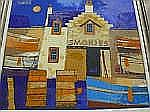 GEORGE BIRRELL, The Smokie Fish Shed, oil on panel
