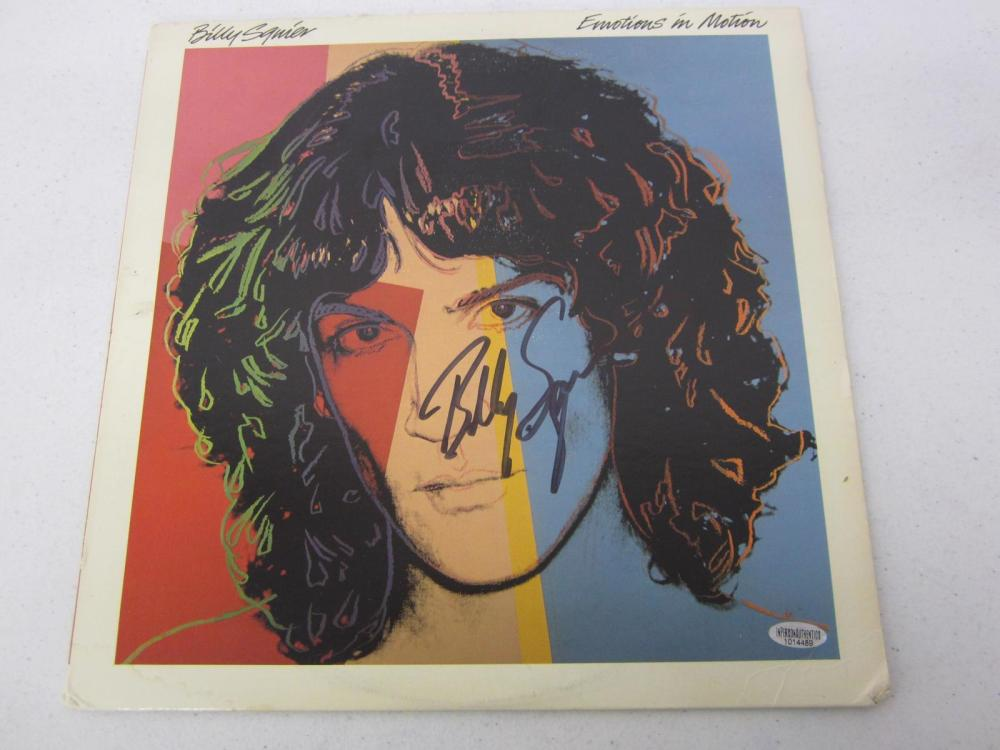 Billy Squier Signed Autographed Record Album Certified Coa