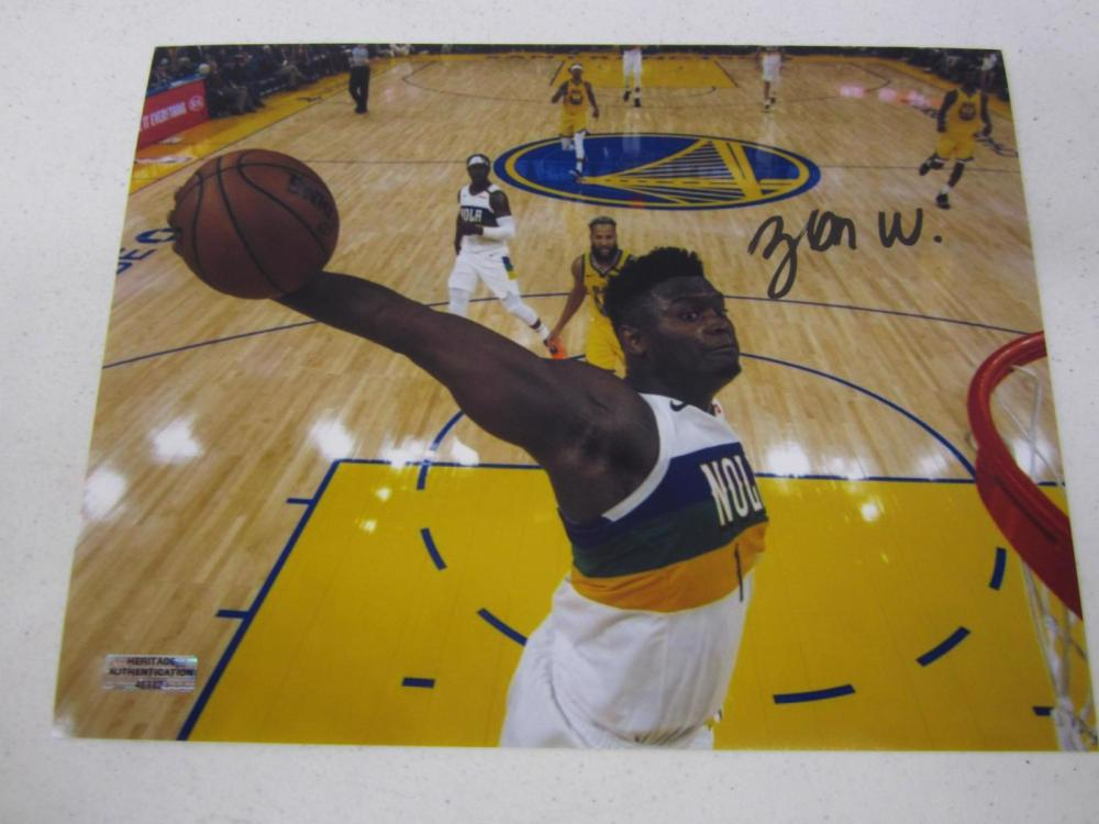 Zion Williamson New Orleans Signed Autographed 8x10 Photo Certified Coa