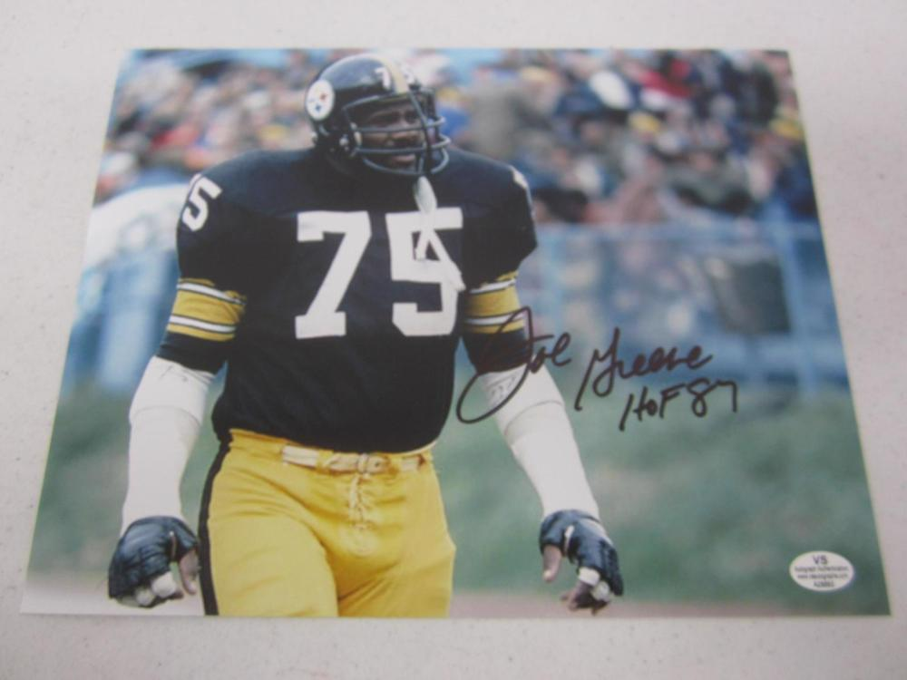 Joe Greene Pittsburgh Steelers Signed Autographed 8x10 Photo Certified Coa