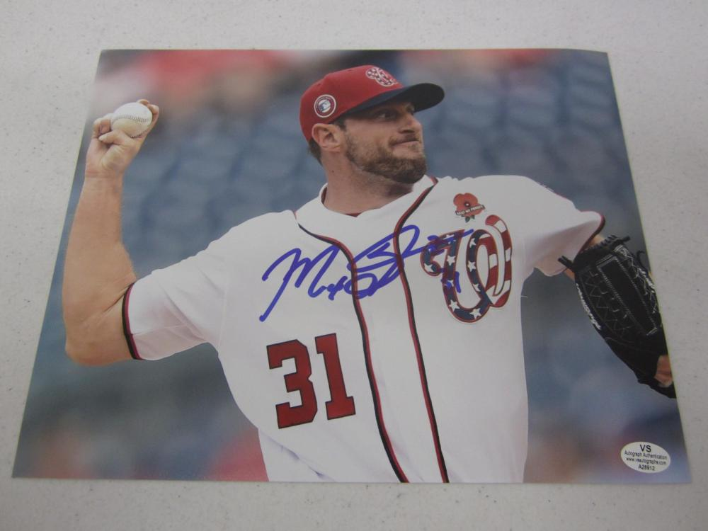 Max Scherzer Nationals Signed Autographed 8x10 Photo Certified Coa