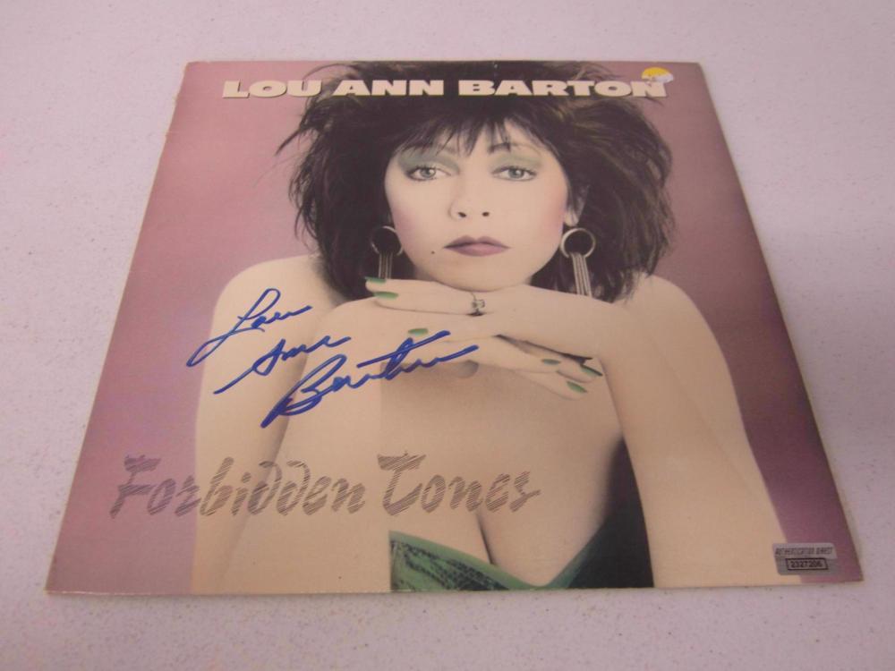Lou Ann Barton Signed Autographed RECORD ALBUM Certified Coa