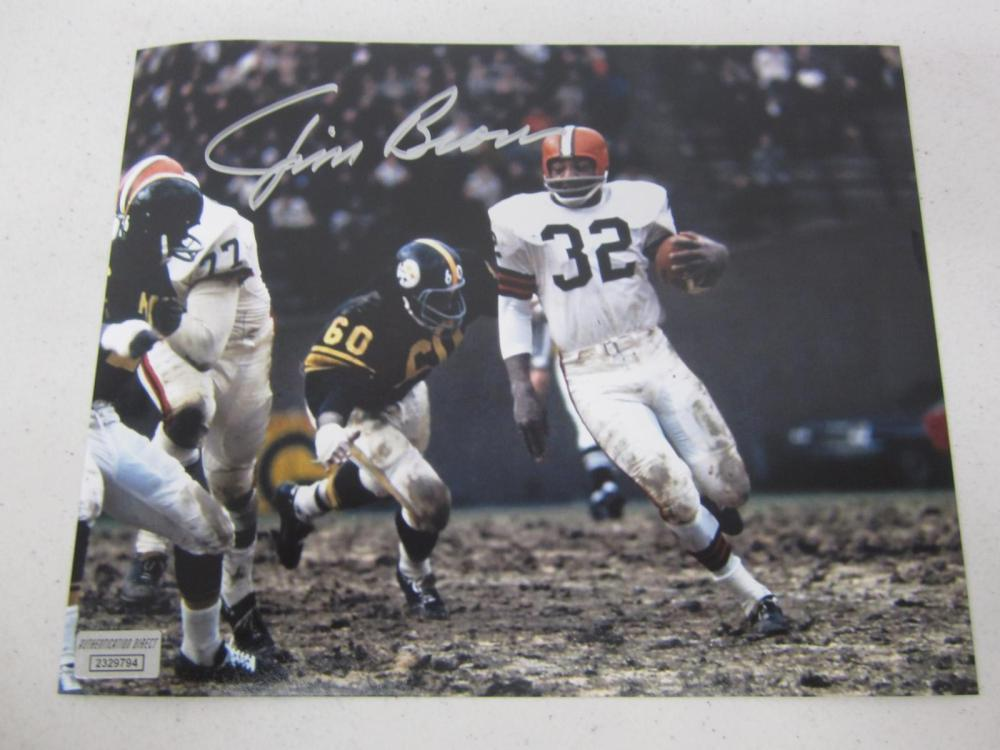 Jim Brown Cleveland Signed Autographed 8x10 Photo Certified Coa