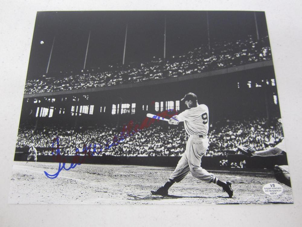 Ted Williams Boston Signed Autographed 8x10 Photo Certified Coa