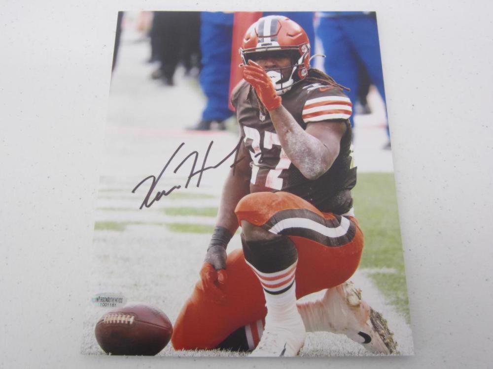 Kareem Hunt Browns signed 8x10 Photo Certified Coa