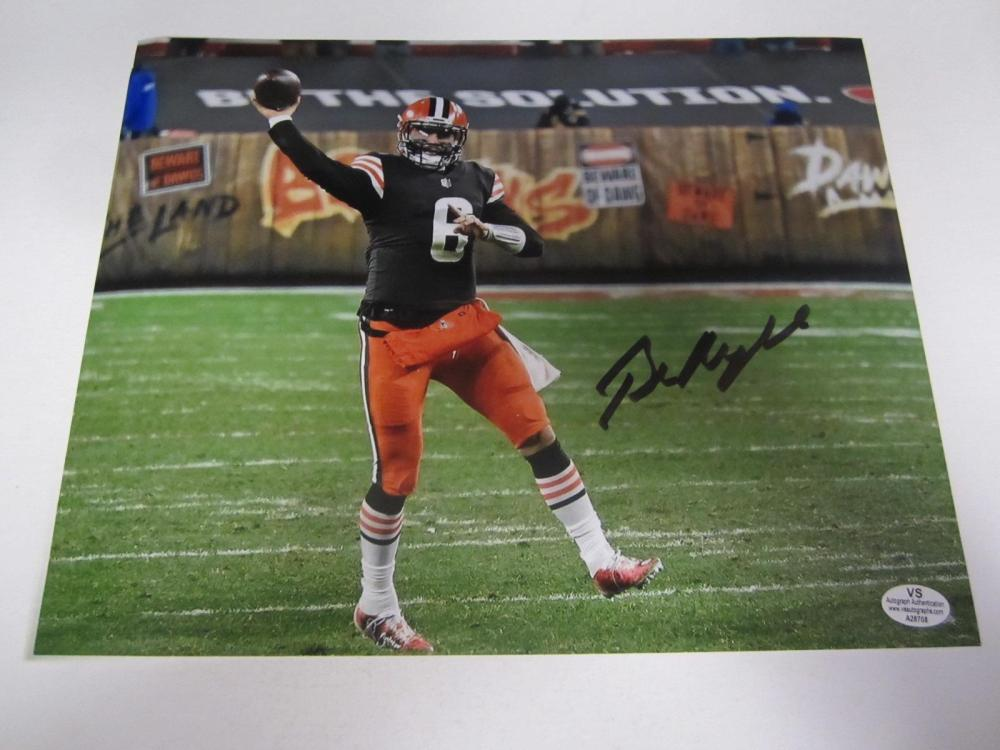 Baker Mayfield Cleveland Signed Autographed 8x10 Photo Certified Coa