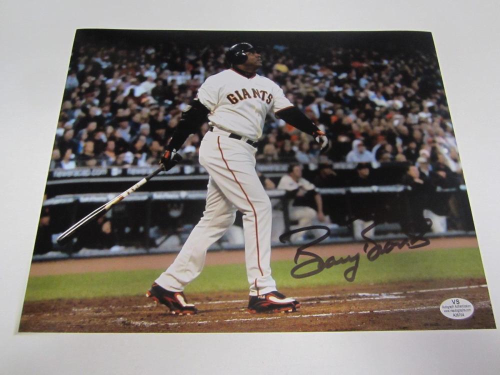 Barry Bonds Giants Signed Autographed 8x10 Photo Certified Coa