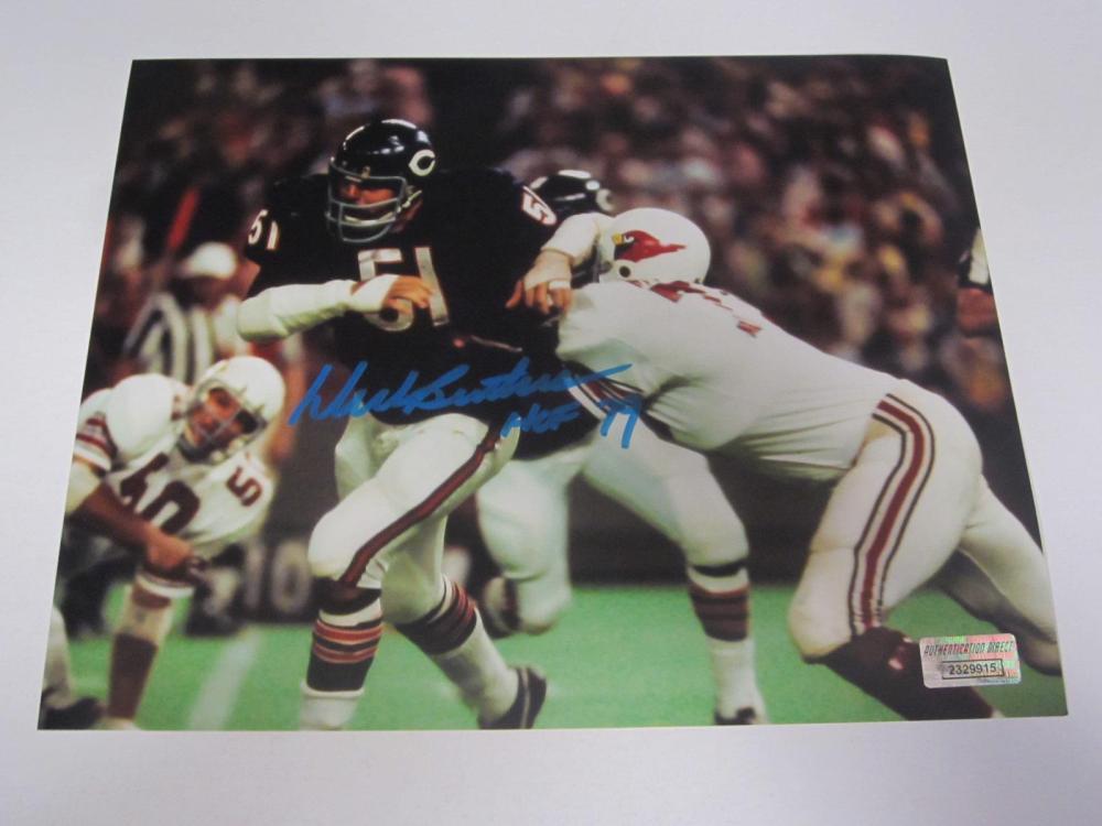 Dick Butkus Bears Signed Autographed 8x10 Photo Certified Coa