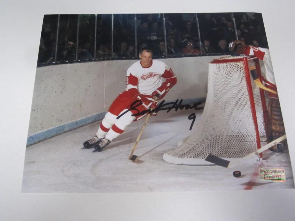 Gordie Howe Red Wings Signed Autographed 8x10 Photo Certified Coa