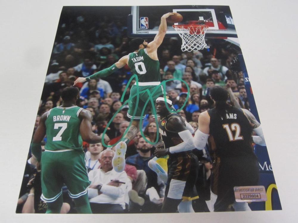 Jayson Tatum Boston Celtics Signed Autographed 8x10 Photo Certified Coa