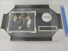 DONALD TRUMP POTUS SIGNED AUTOGRAPHED FRAMED 8X10 PHOTO CERTIFIED AAA COA