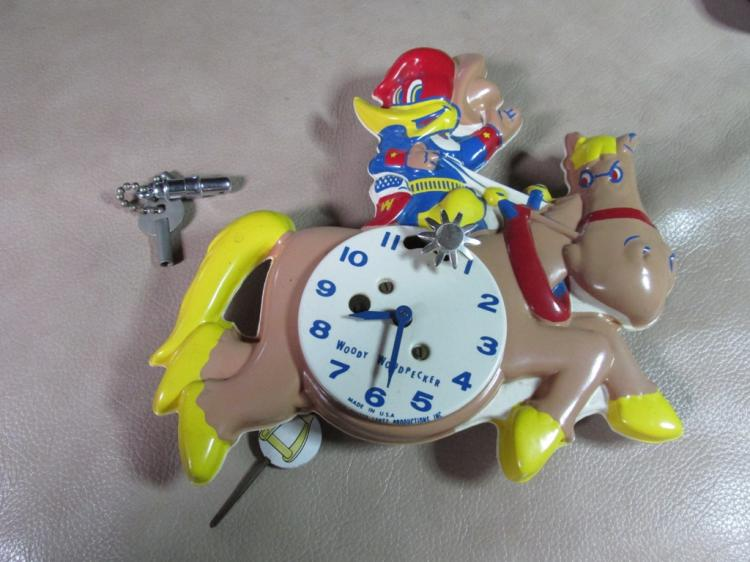 1959 Very rare Woody Woodpecker Wall Clock