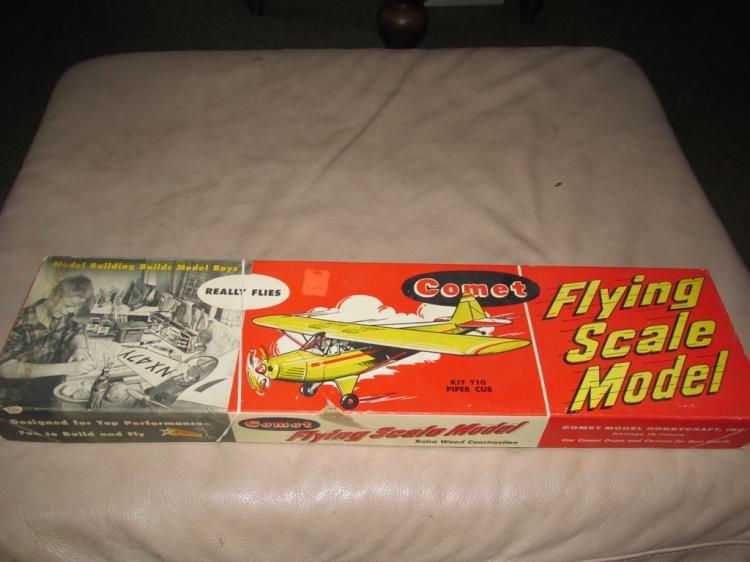 Vintage Comet airplane model