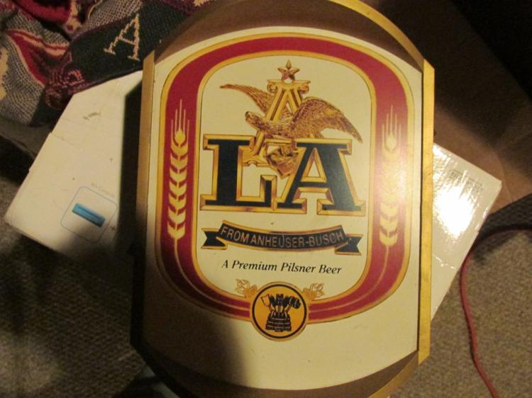 Vintage beer lighted sign