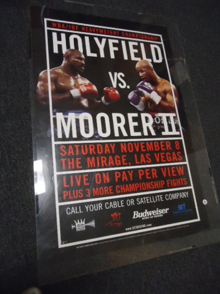 Holyfield vs Moore fight poster