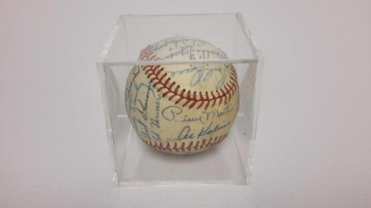 Detroit Tigers Autographed Baseball, Al Kaline,Billy Martin