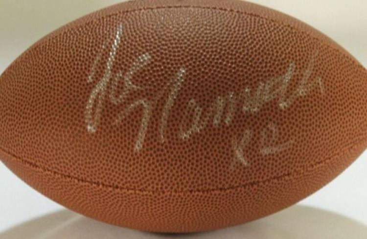 Joe Namath signed football