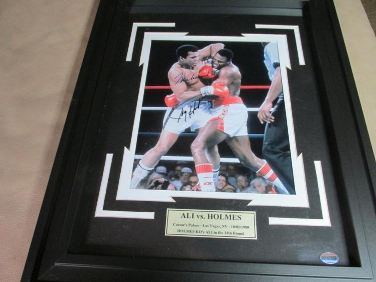 Muhammad Ali,Larry Holmes signed photo