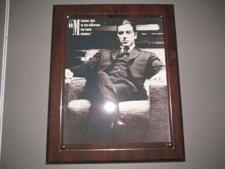 Very nice wall plaque of the godfather