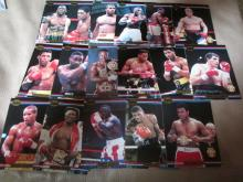 Group of Heavy Weight Fighters boxing cards