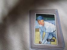 1951 Bowman card Ted Grey #178