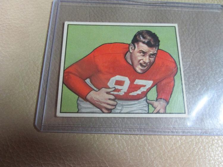 1950 Bowman card Leo Nomellini #107
