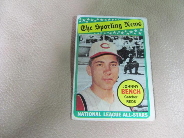 Johnny Bench Sporting news card