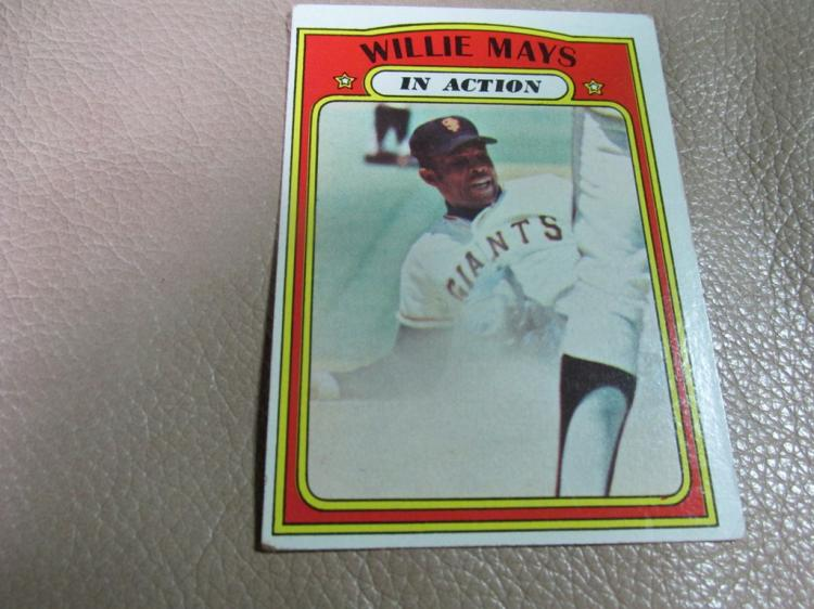 Willie Mays in action card #50